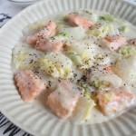 ☆魚おかずで脳を活性化「鮭と白菜の和風クリーム煮」[3/4]