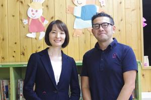 【写真左】住友生命・須之内さん/【右】放課後NPOアフタースクール・押塚さん